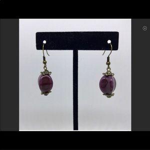 """NWOT Premier Designs """"Purple Iris"""" earrings"""